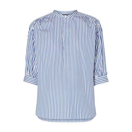 Polo Ralph Lauren Blusenshirt aus Baumwolle mit Streifenmuster grau