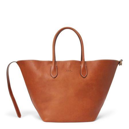 Polo Ralph Lauren Große Ledertragetasche Bellport orange