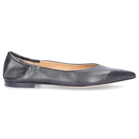 Pomme d´or Ballerinas 1000A Glattleder schwarz grau