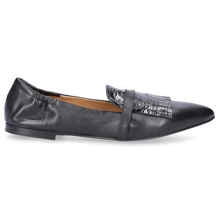 Pomme d´or Ballerinas 1627D Kalbsleder schwarz grau