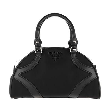 Prada  Bowling Bag  -  Bowling Bag Nylon Leather Black  - in schwarz  -  Bowling Bag für Damen schwarz