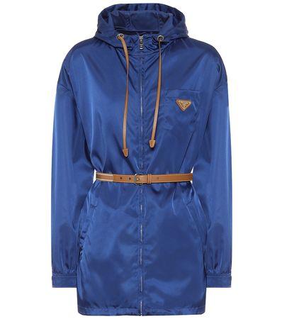 Prada Jacke aus Nylon blau