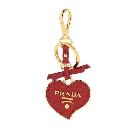 Prada  Keychain  -  Heart Shaped Keychain Saffiano Leather Fiery Red  - in rot  -  Keychain für Damen rot