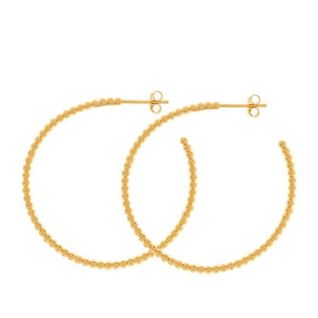 Prada Leaf Ohrringe  -  Creole Silver Gold-Plated  - in gelbgold  -  Ohrringe für Damen orange