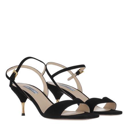Prada  Sandalen  -  Sandals Suede Leather Nero  - in schwarz  -  Sandalen für Damen schwarz
