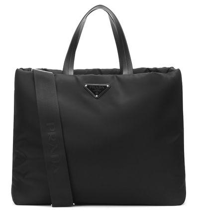 Prada Shopper aus Nylon schwarz