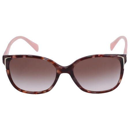 Prada Sonnenbrille D-Frame SPR01O Acetat Schildkröte rosa braun
