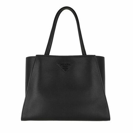 Prada  Tote - Logo Embellished Tote Bag Leather - in schwarz - für Damen