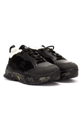Premiata Trecking-Sneakers in Schwarz schwarz