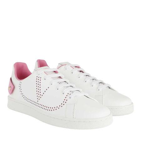 Valentino  Sneakers - V Low Sneaker Bianco/Pretty Pink - in weiß - für Damen grau
