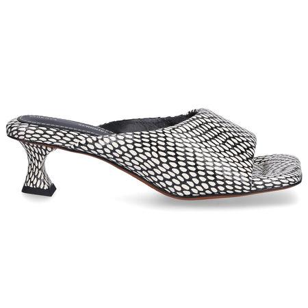 Proenza Schouler Sandalen PS342 Nappaleder beige schwarz grau
