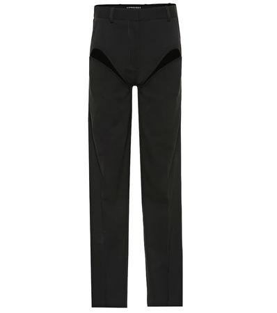 Y/PROJECT Exklusiv bei Mytheresa – Hose aus Wolle mit Cut-outs schwarz