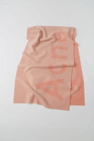 Acne Studios  Toronty Logo Rosa/Puderrosa  Jacquard-Schal mit Logo grau