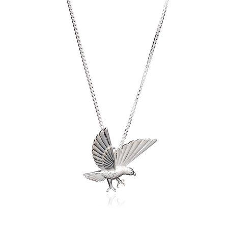Rachel Jackson London  Halskette  -  Statement Eagle Necklace Silver  - in silber  -  Halskette für Damen braun