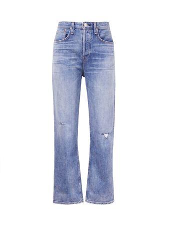 Rag & Bone  - Highrise-Jeans 'Maya Ankle' Blau blau
