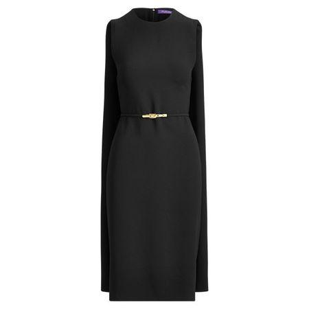 Ralph Lauren Collection Cape-Kleid Aviana mit Gürtel schwarz