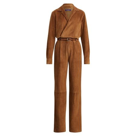 Ralph Lauren Collection Jumpsuit Judson aus Lammwildleder braun