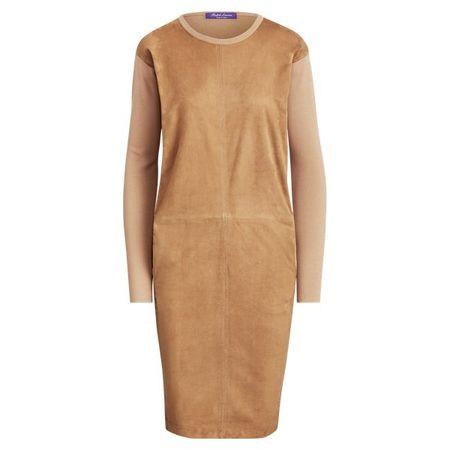Ralph Lauren Collection Kleid aus Wildleder und Wolle orange