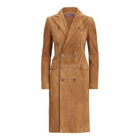 Ralph Lauren Collection Kleid Wellesly aus Lammwildleder braun