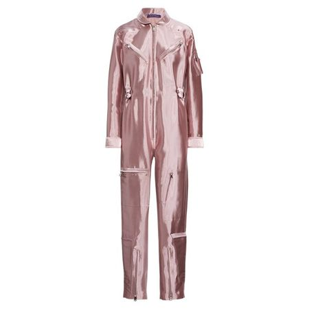 Ralph Lauren Collection Lamé-Jumpsuit in Metallic-Optik braun