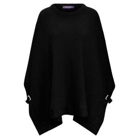 Ralph Lauren Collection Poncho-Pullover aus Kaschmir schwarz