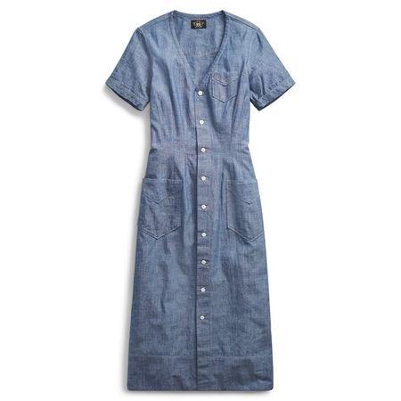 Ralph Lauren Kleid aus Indigo-Chambray grau