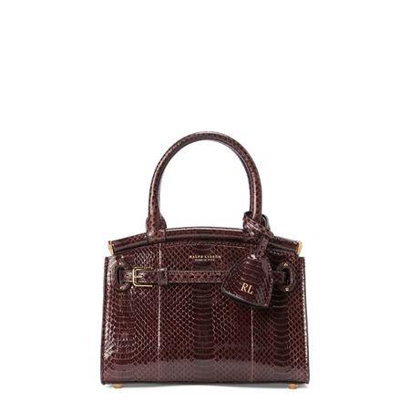 Ralph Lauren Kleine Ayers-Handtasche RL50 braun