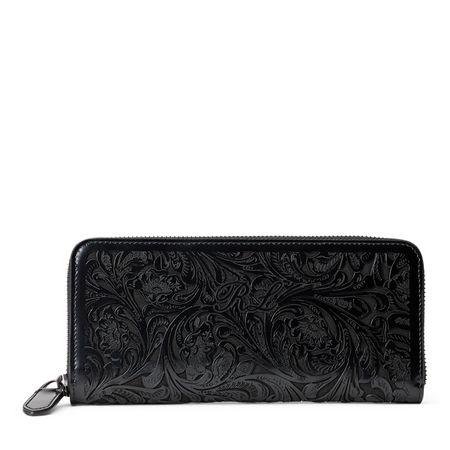 Ralph Lauren Lasergeschnittene Brieftasche schwarz