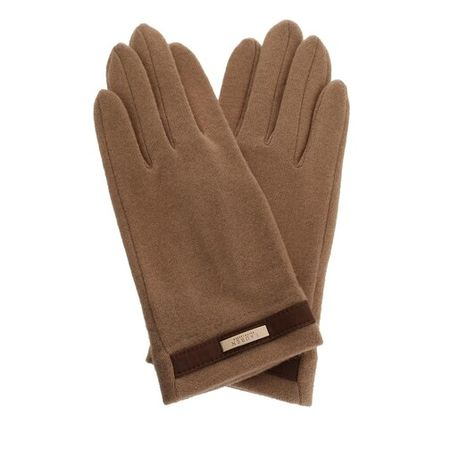 Ralph Lauren Lauren  Handschuhe - Belted Glove - in cognac - für Damen