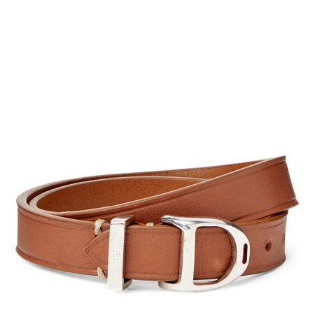 Ralph Lauren Steigbügel-Armband aus Kalbsleder braun