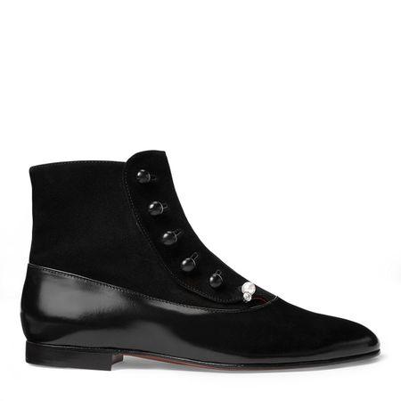 Ralph Lauren Stiefelette Caia mit Knöpfen schwarz
