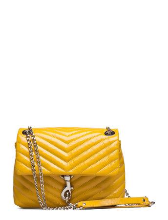 Rebecca Minkoff Edie Crossbody Naplack Bags Small Shoulder Bags - Crossbody Bags Gelb  gruen