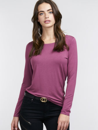 Repeat Cashmere Tailliertes Basic Longsleeve grau