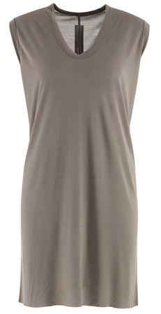Rick Owens  - T-Shirt aus Viskosegemisch grau