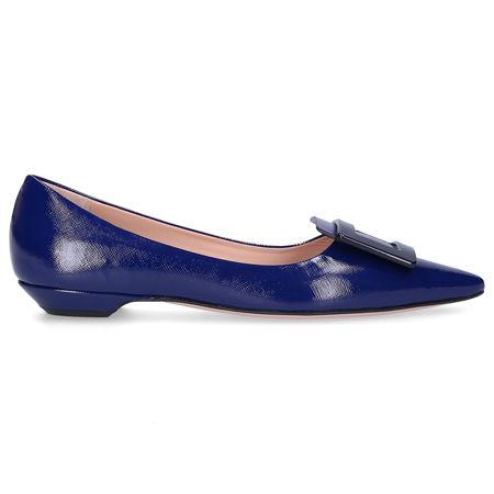 Roberta Festa Ballerinas HONORE Kalbsleder marine blau