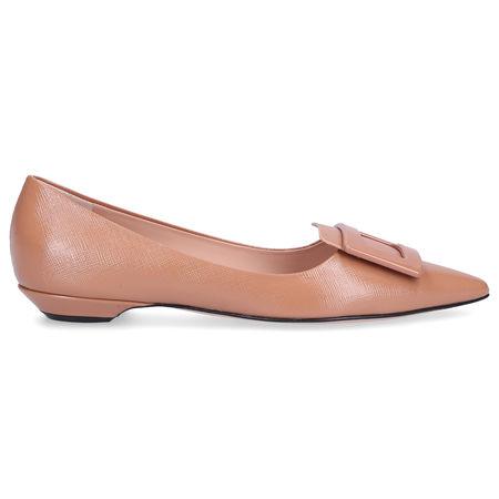 Roberta Festa Ballerinas HONORE  Lackleder beige braun