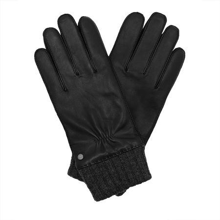 Roeckl  Handschuhe  -  Men Knitted Cuff Gloves Black  - in schwarz  -  Handschuhe für Damen schwarz