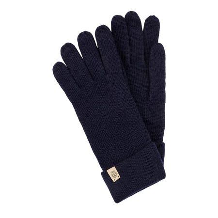 Roeckl Handschuhe mit Woll-Anteil und Logo-Applikation schwarz