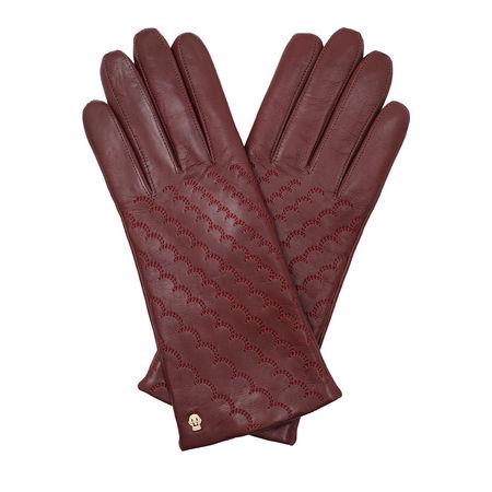 Roeckl  Handschuhe  -  Women Diagonal Scales Gloves Wine  - in rot  -  Handschuhe für Damen braun