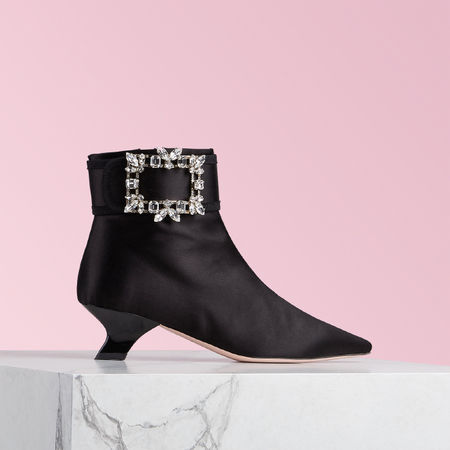Roger Vivier  - Ankle Boots Broche Vivier rot