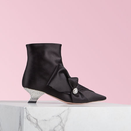 Roger Vivier  - Ankle Boots Lavallière Strass Heel rot