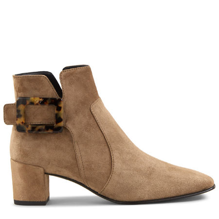 Roger Vivier  - Ankle Boots Polly Turtle Buckle braun