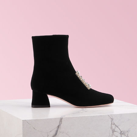 Roger Vivier  - Ankle Boots Très Vivier Strass rot