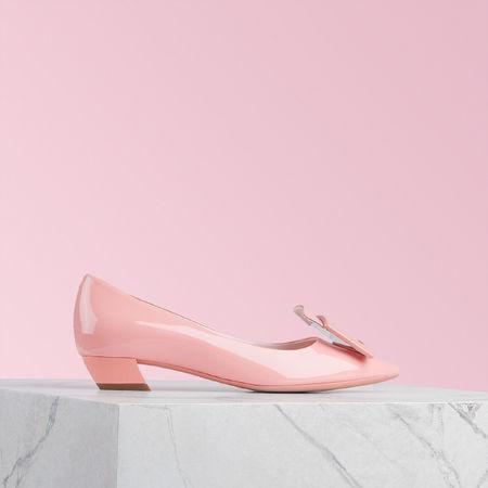Roger Vivier  - Ballerinas Gommettine rot