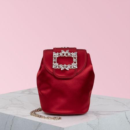 Roger Vivier  - Broche Vivier Mini Backpack braun