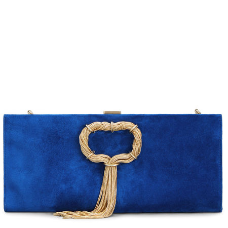 Roger Vivier  - Club Chain Clutch blau