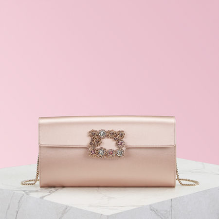 Roger Vivier  - Flower Buckle Envelope Flap rot