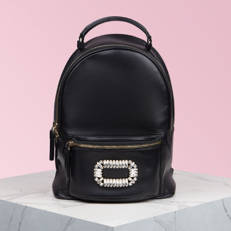 Roger Vivier  - Sexy Choc Buckle Backpack braun