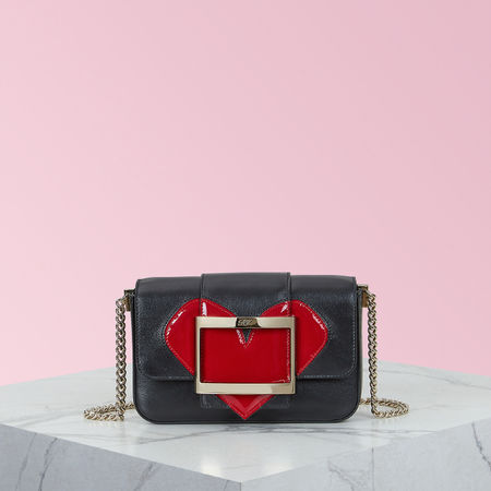 Roger Vivier  - Très Vivier Valentine's Day Micro Bag rot