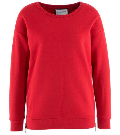 Roqa  - Sweater aus Baumwollgemisch rot